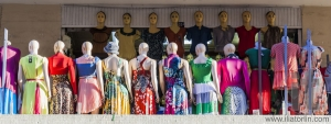 Group of mannequin in summer clothes.  Merkato market. Addis Ababa. Ethiopia.