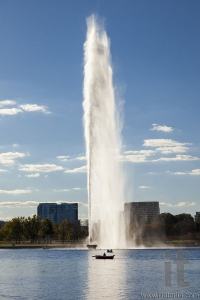 Fountain in Burley Griffin Lake. Canberra. Australia