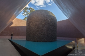 Interior of James Turrell's Skyspace sculpture 'Within Without' located in new Australian Garden of National Gallery. Canberra. Australia