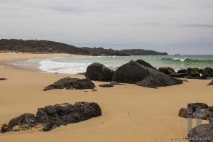 Rocky beach near Bingi point. Nsw. Australia.