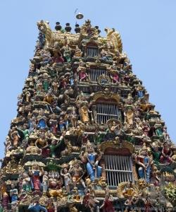 Facade of Sri Kali Temple. Yangon. Myanmar.