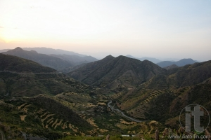 Escarpment near Asmara. Eritrea. Africa.
