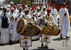 Meskel - Festival of Timket (Finding of True Cross). Asmara. Eritrea. Africa.