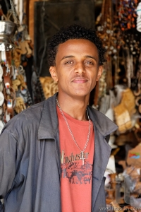 Portrait of seller. Main Market. Asmara. Eritrea. Africa.