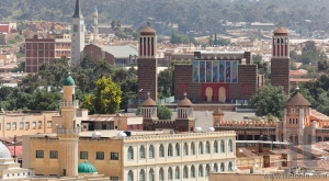 View from St. Mary's Catholic Cathedral. Asmara. Eritrea. Africa.