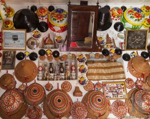 Typical interior of traditional house in ancient city of Jugol. Harar. Ethiopia.