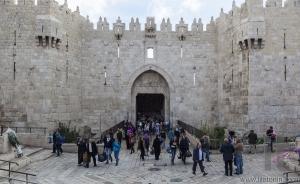 Damascus gate. Jerusalem old town, Israel