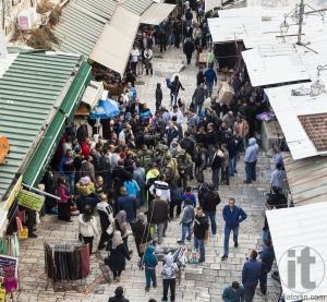Israeli soldiers apprehend terrorist. Jerusalem. Israel.