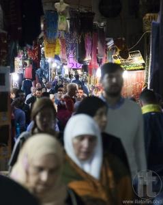 People on Beit HaBad Street. Jerusalem, Israel.