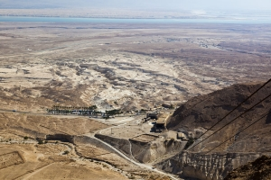 View of Judaean Desert and Dead See from Masada. Israel