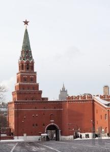 Borovitskaya tower. Moscow Kremlin. Russia.