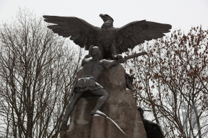 Detail of the Monument to heroes of 1812. Smolensk. Russia.