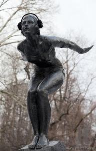 Swimmer. 1930 by Matvey Manizer. Neskuchniy Garden. Moscow. Russia.