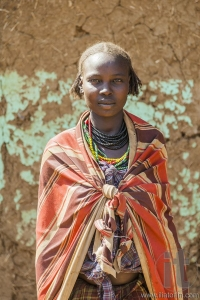 Portrait of Dassanech girl. Omorato, Ethiopia.