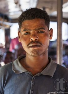Portrait of a man on the bus. Sodo Wolaita. Ethiopia.