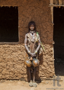 Hamar woman at village market.
