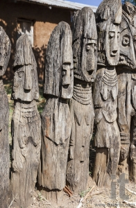 Waga - carved wooden grave markers sometimes misleadingly referred as totems . Arfaide (near Karat Konso). Ethiopia.