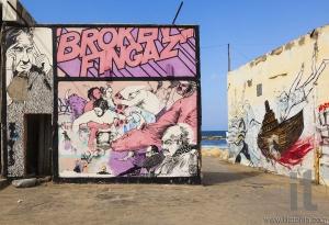 Street art (graffiti) by Broken Fingaz. Tel Aviv, Israel