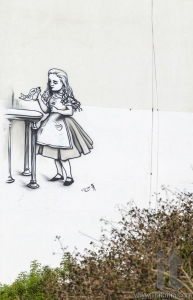 Street art (graffiti) by Kis-Lev near Neve Tsedek. Tel Aviv, Isr