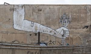 Street art (graffiti) in the old Jaffa. Tel Aviv, Israel.