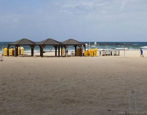 Geula Beach in October. Tel Aviv, Israel