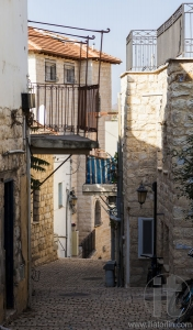 Narrow city street. Tzfat (Safed). Israel.
